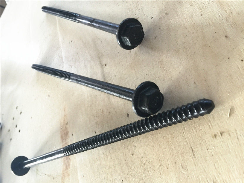 Concrete Forming Coil Bolt Metal Fasteners 300mm Length Black Finish Surface