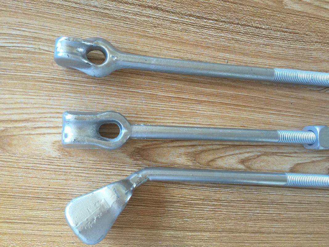 forged straight eye guy strand  thimble eye anchor rods for power line fittings
