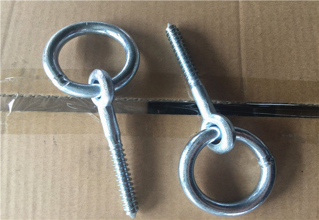 Zinc Plated Fasteners Forged Eye Bolts / Eye Bolt With Ring Wood Thread Lag Screw